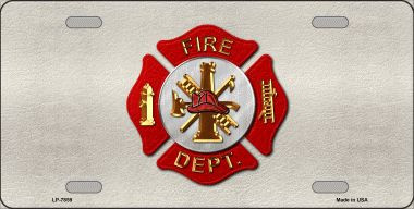 Fire Department Wholesale Metal Novelty License Plate