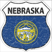 Nebraska State Flag Highway Shield Wholesale Metal Sign