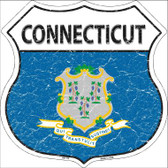 Connecticut State Flag Highway Shield Wholesale Metal Sign