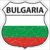 Bulgaria Country Flag Highway Shield Wholesale Metal Sign