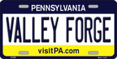 Valley Forge Pennsylvania State Background Novelty Wholesale Metal License Plate