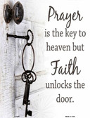 Faith Unlocks The Door Wholesale Metal Novelty Parking Sign