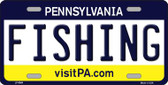 Fishing Pennsylvania State Background Novelty Wholesale Metal License Plate