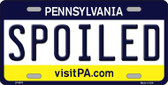 Spoiled Pennsylvania State Background Novelty Wholesale Metal License Plate