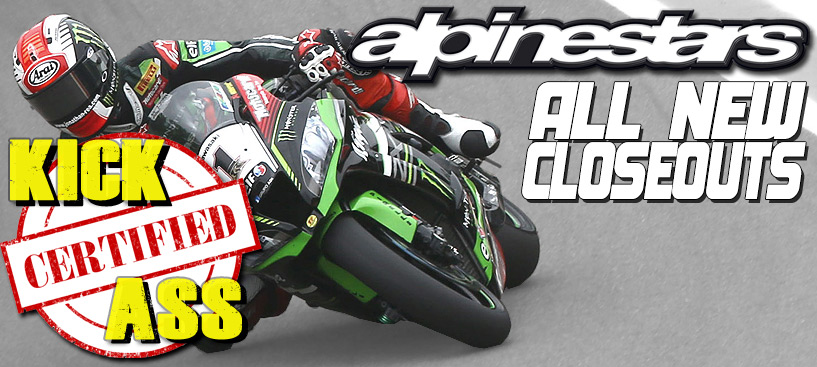 All New Alpinestars Closeouts, Shop and Save Today!