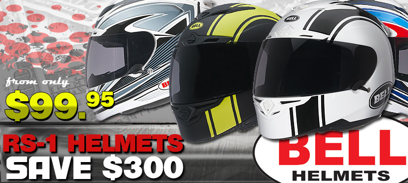 Bell RS-1 Helmets SAVE UP TO $300