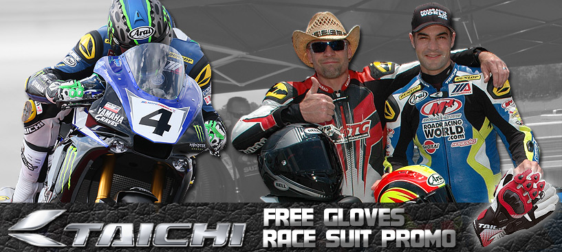 FREE Taichi Gloves w/select Taichi Race Suit Purchases, Ends Soon!