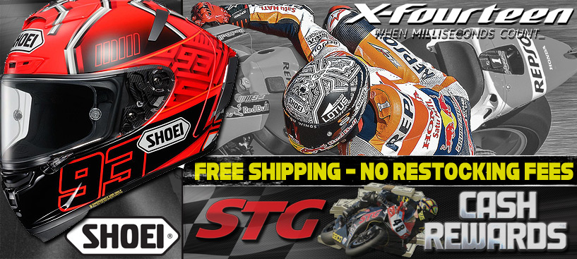 No Restocking, Expert Sizing Assistance and Free Shipping On Shoei X-14 Helmets