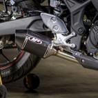 M4 Exhaust Yamaha YZF-R3 15-16 Street Slayer Carbon Slip On Exhaust