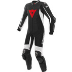 Dainese D-Air Racing Misano Perforated Leather Race Suit Black/Black/White