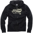 100% Barstow Zip Up Black Hoody 1