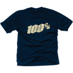 100% Black Letter Navy T-Shirt 1