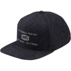 100% Broomley Herringbone Snapback Hat 1