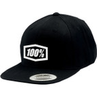 100% Corpo Black/White Snapback Hat 1