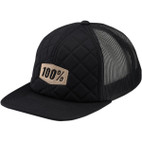 100% Diner Black Trucker Hat 1