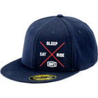 100% Eat.Sleep.Ride. Navy Hat 1