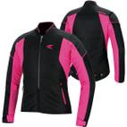 RS Taichi Women's Crew Mesh Jacket RSJ311 Black/Pink