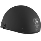 Black Brand Cheater Half Helmet Matte Black/White