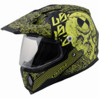 LS2 MX453 Test Machine Adventure Motorcycle Helmet Hi-vis Yellow