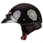 LS2 HH568 Solid Motorcycle Half Helmet Gloss Black