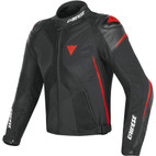 Dainese Super Rider D-Dry Jacket Black/Black/Fluorescent Red