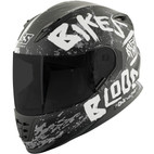 Speed and Strength SS1310 Bikes Are In My Blood Helmet Matte Black/White/Charcoal