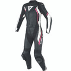 Dainese Women's Avro D2 Two Piece Leather Suit Black/White/Fuchsia