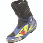 Dainese Axial Pro In Rossi Replica D1 Boots Fluorescent Yellow/Yamaha Blue