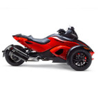 Two Brothers Can-Am Spyder 08-12 M-2 Dual Merge Collector Black Series Slip-On Exhaust