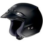 Shoei RJ Platinum-R Solid Open-Face Helmet Matte Black
