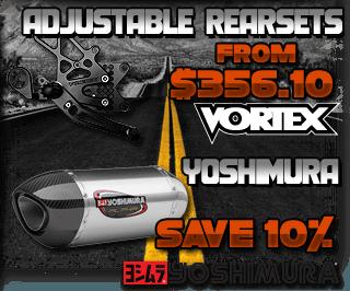 Vortex Rearsets and Yoshimura Parts Sale