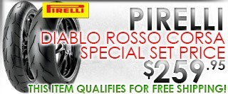 Pirelli Diablo Rosso Corsa 190/55-17 and 120/70-17 Tire Set Special