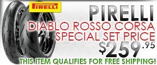 Pirelli Diablo Rosso Corsa 190/55-17 and 120/70-17 Tire Set Special