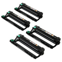 Remanufactured Brother DR-221CL Imaging Drum Unit Set (Black, Yellow, Cyan, Magenta)
