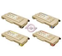Remanufactured Brother TN04 Series - Set of 4 Laser Toner Cartridges: 1 each of Black, Cyan, Yellow, Magenta