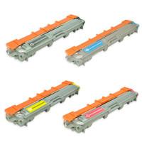 Remanufactured Brother TN225 / TN221 Toner Cartridges, High Yield, 4 Pack (TN221BK, TN225C, TN225Y, TN225M)