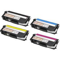 Remanufactured Brother TN310 Set of 4 Laser Toner Cartridges: 1 each of Black, Cyan, Yellow, Magenta