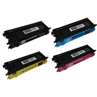 Brother TN110 Toner Cartridges 4Pack / TN110BK TN110C TN110Y TN110M