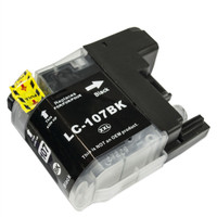 Compatible Brother LC-107BK Super High Yield Black Ink Cartridge - Replacement Ink for MFC-J4310DW, J4410DW, J4510DW