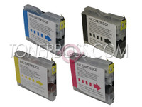 Compatible Brother LC-51 - Set of 4 Ink Cartridges: 1 each of Black, Cyan, Yellow, Magenta