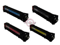 Remanufactured Canon 116 Series - Set of 4 Laser Toner Cartridges: 1 each of Black, Cyan, Yellow, Magenta