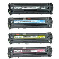 Remanufactured Canon 131 Set of 4 Toner Cartridges - For Canon LBP-7110, MF8280