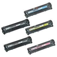 Remanufactured Canon 131 Set of 5 Toner Cartridges for Canon LBP-7110, MF8285