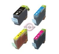 Compatible Canon BCI-3 - Set of 4 Ink Cartridges (BCI-3EBK ,BCI-3EC,BCI-3EM ,BCI-3EY)