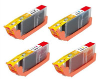 Compatible Canon CLI-251XL Set of 4 Ink Cartridges: Black, Cyan, Magenta, Yellow