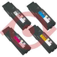 Compatible Dell C3760, C3765 Set of 4 Extra High Yield Laser Toner Cartridges