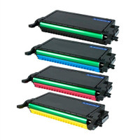 Remanufactured Dell 2145 Series - Set of 4 High Yield Laser Toner Cartridges: 1 each of Black, Cyan, Yellow, Magenta