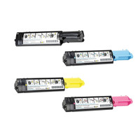 Compatible Dell 3000cn/3100cn Set of 4 High Yield Laser Toner Cartridges: 1 each of Black, Cyan, Yellow, Magenta