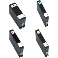 Dell Series 33 Set of 4 Remanufactured Extra-High Yield Ink Cartridges For Dell All-in-One V525w, V725w