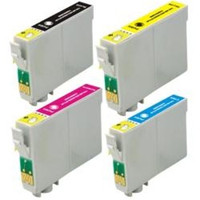 Remanufactured Epson Stylus CX7400 (Epson T069 )- Set of 4 Ink Cartridges: 1 each of Black, Cyan, Yellow, Magenta